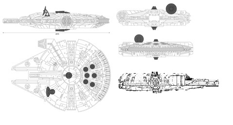 A YT-1300 with additional cargo pods.